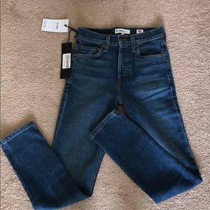 NWT Re/Done Jeans High Rise Ankle Crop Size 23
